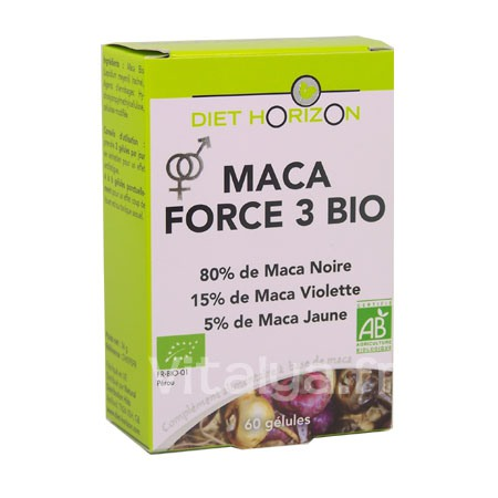 Maca Bio Force 3 Diet Horizon 60 Gélules