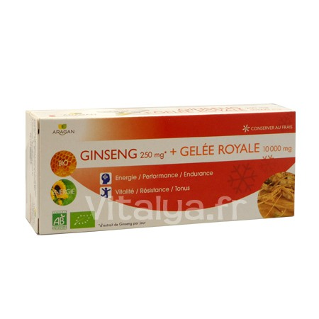 Ginseng 250mg + Gel�e Royale 10 000mg Aragan