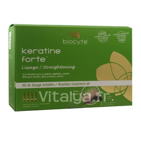 Keratine Forte Kit Lissage Br�silien Biocyte 4x100ml