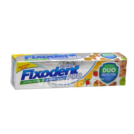 Fixodent Pro Duo Protection Antibactérien Antiparticules  40g