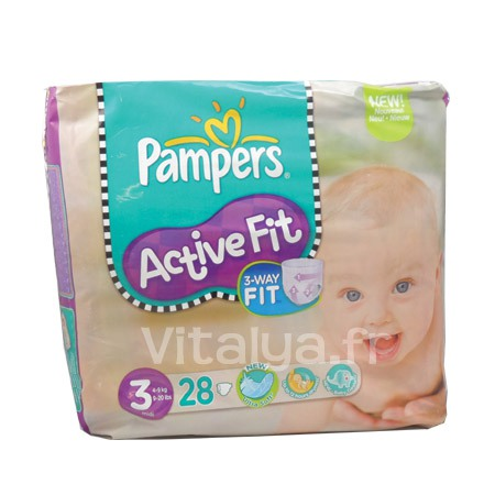 Pampers Activ Fit Taille 3 Midi 28 Couches