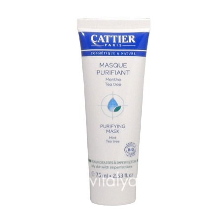 Cattier Masque Purifiant Peaux Grasses à Imperfections 75 ml