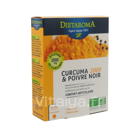 curcuma 2000 poivre noir acheter dietaroma sur vitalya. Black Bedroom Furniture Sets. Home Design Ideas
