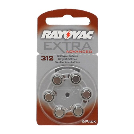 Rayovac Extra Advanced 312 6 piles
