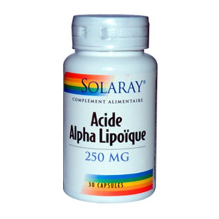 Acide Alpha Lipoïque Solaray 250mg 30 capsules