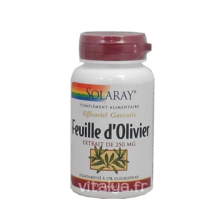 Feuille d\'Olivier 250mg Solaray 30 capsules