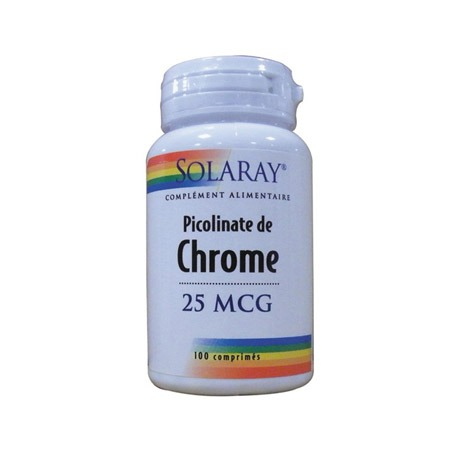 Picolinate de Chrome Solaray 100 comprimés
