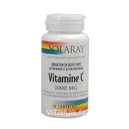 Vitamine C 1000 mg Solaray 30 comprimés
