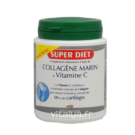 Collagène Marin et Vitamine C Super Diet 180 Comprimés