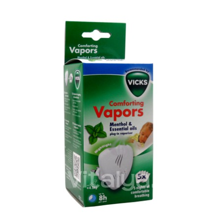 Vicks Diffuseur Comforting Vapors + 5 Recharges