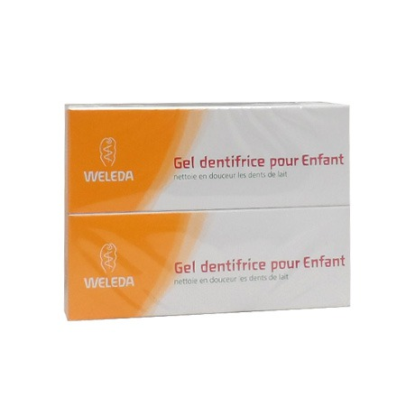 Weleda Gel Dentifrice Enfant 50ml LOT DE 2