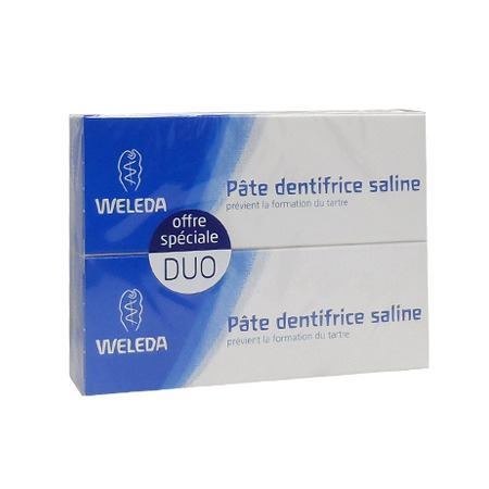 Dentifrice Saline Weleda Pâte 75 ml LOT DE 2