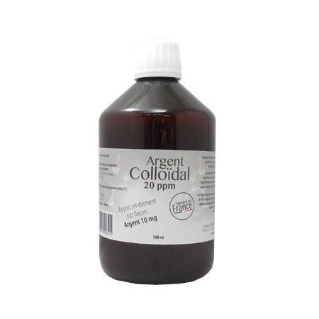 Argent colloïdal 20 ppm 500ml, Dr Theiss