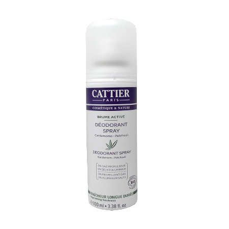 Déodorant Cattier brume active bio spray 100ml