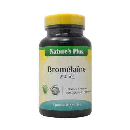 Bromelaine 250 mg Nature\'s Plus 90 Comprimés