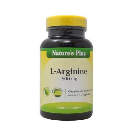 L-Arginine 500 mg Nature\'s Plus 90 gélules