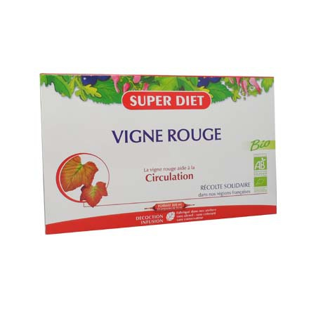 Vigne rouge bio Super Diet 20 ampoules