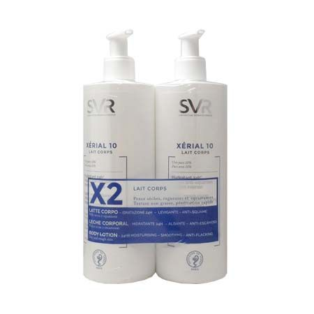 Xérial 10 lait corps SVR 400ml Lot de 2