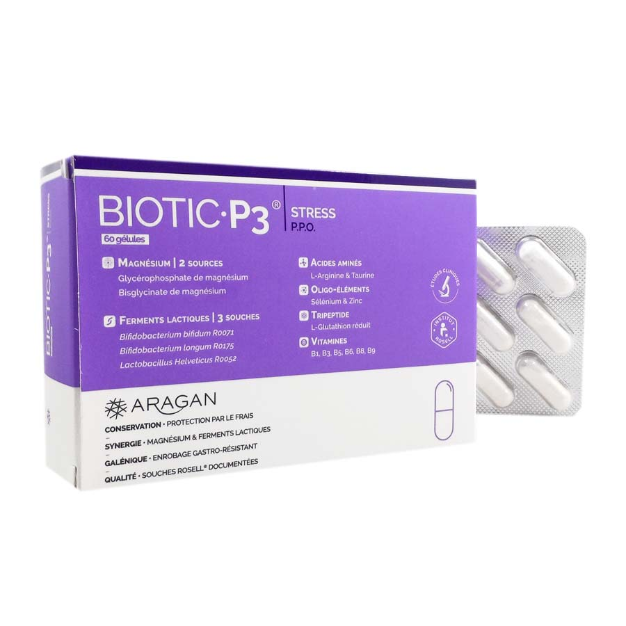 Biotic P3 Stress Aragan 60 gélules