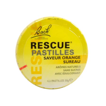 Rescue pastilles saveur orange sureau Bach 50 g