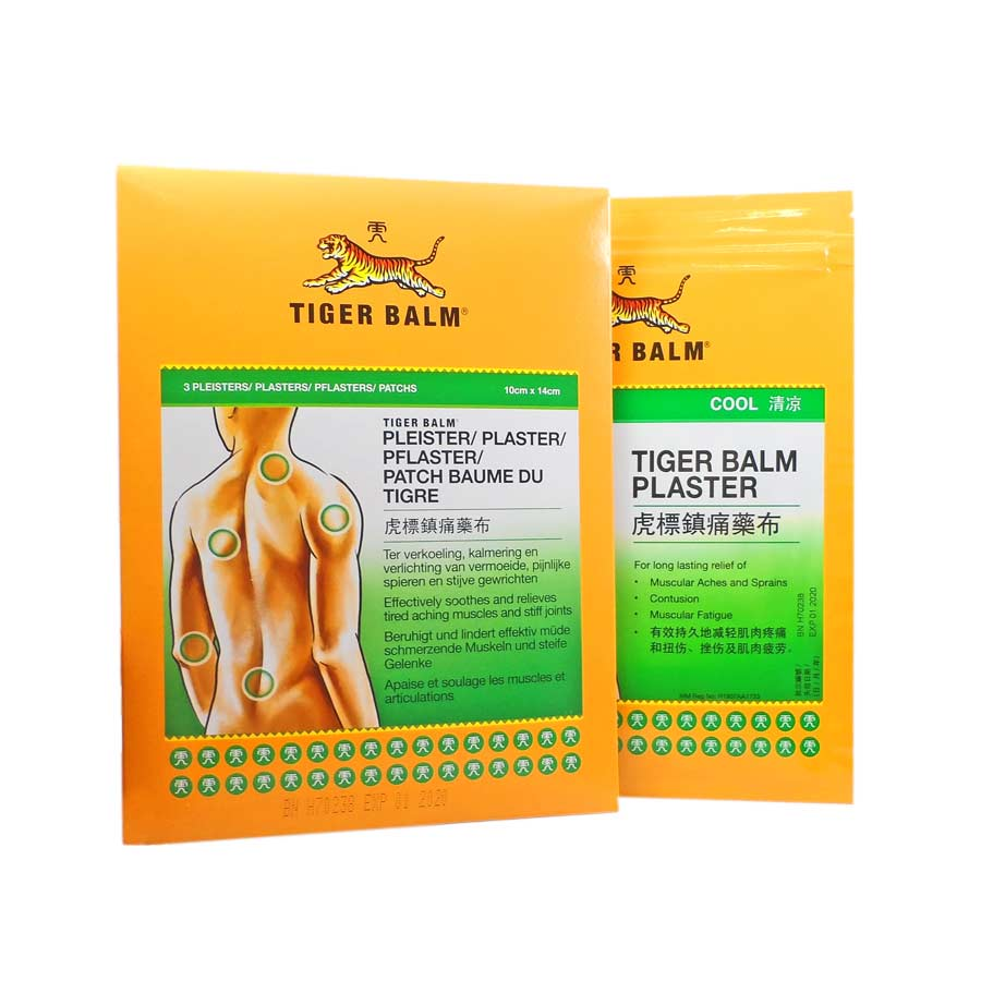 Baume du tigre patch froid x 3 plasters