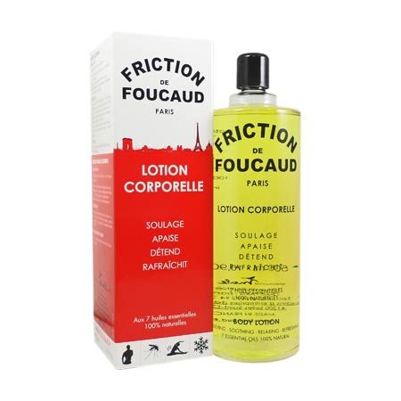 Friction de Foucaud lotion corporelle flacon verre 500 ml