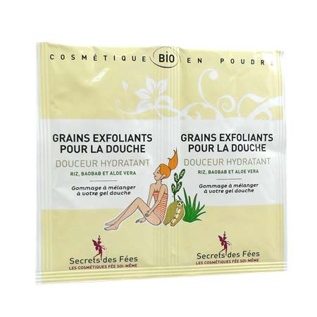 Secrets des Fées grains exfoliants douceur hydratant 2 x 2,5g