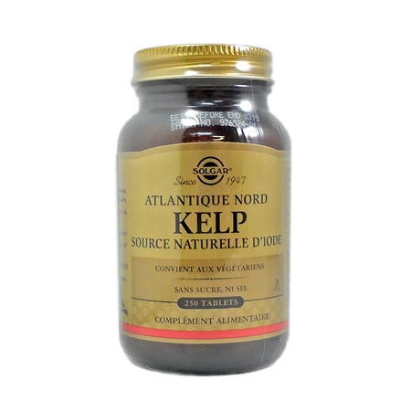 Solgar kelp (varech) source naturelle d\'iode 250 tablets