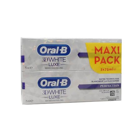 Oral B 3D white luxe perfection 75ml Lot de 2