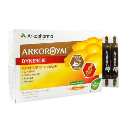 Arkoroyal Dynergie Arkopharma 20 ampoules