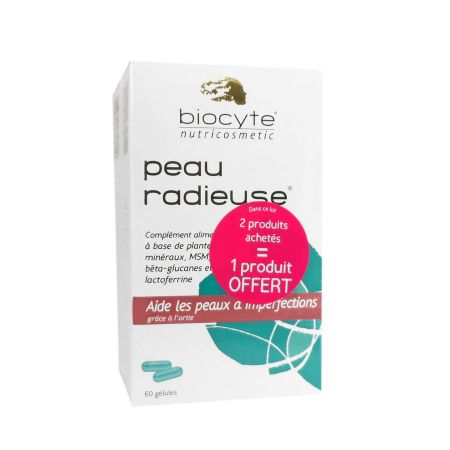 Peau Radieuse Biocyte 60 gélules Lot de 3