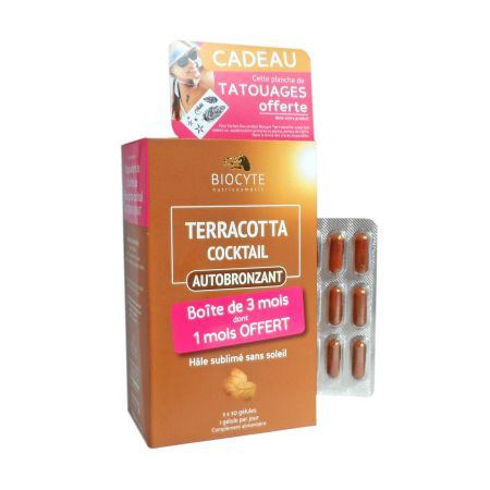 Terracotta cocktail autobronzant Biocyte Lot x 3