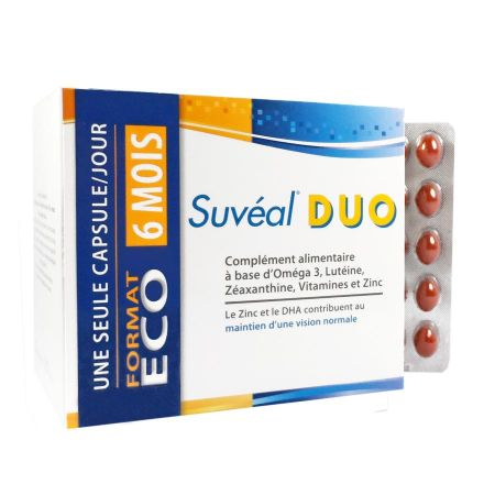 Suvéal Duo 180 capsules - FORMAT ECO 6 mois