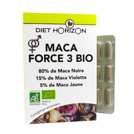 Maca Force 3 Bio Diet Horizon 60 gélules
