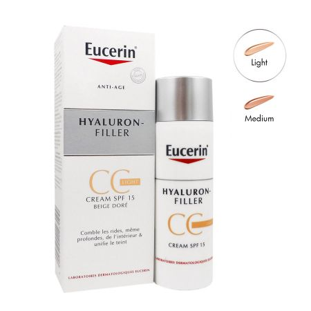 Eucerin hyaluron-filler CC cream light beige doré 50ml