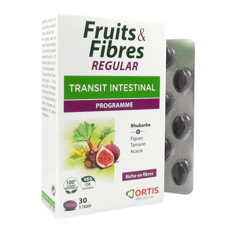Fruits & Fibres Regular Transit intestinal Ortis 30 comprimés