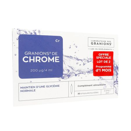 Chrome Granions 30 ampoules LOT DE 2