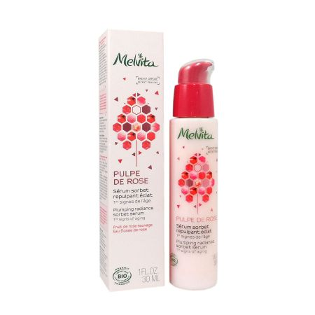 Melvita Pulpe de Rose sérum sorbet repulpant éclat 30ml