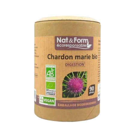 Chardon marie bio Nat & Form Eco-Responsable 90 gélules