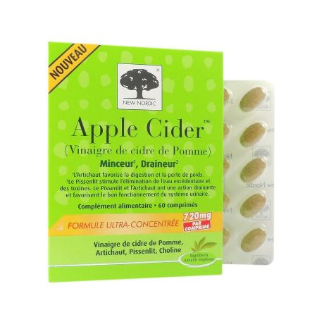 Apple Cider New Nordic 60 comprimés