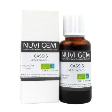 Bourgeon cassis bio Nuvi Gem 30ml