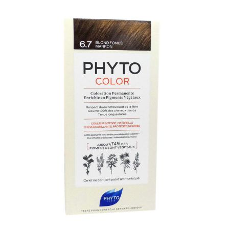 Phyto Phytocolor coloration permanente 6.7 blond foncé marron
