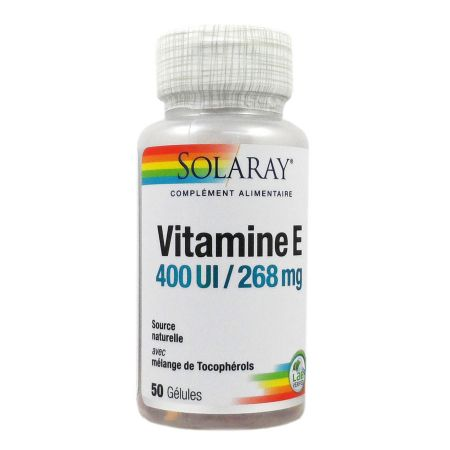Vitamine E 400 UI - 268 mg Solaray 50 gélules