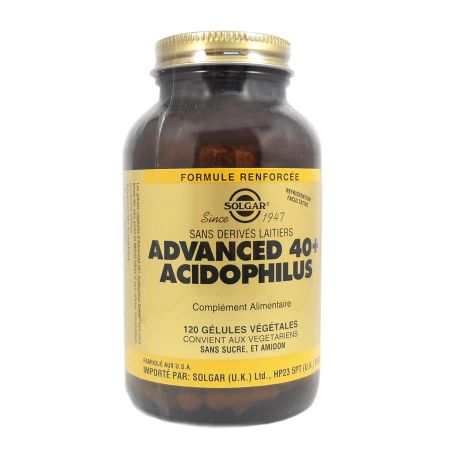 Advanced 40+ Acidophilus Solgar 120 gélules végetales