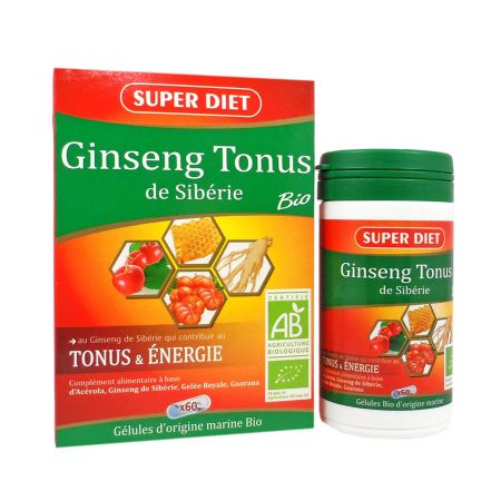 ginseng tonus bio 60 g lules super diet petit prix. Black Bedroom Furniture Sets. Home Design Ideas
