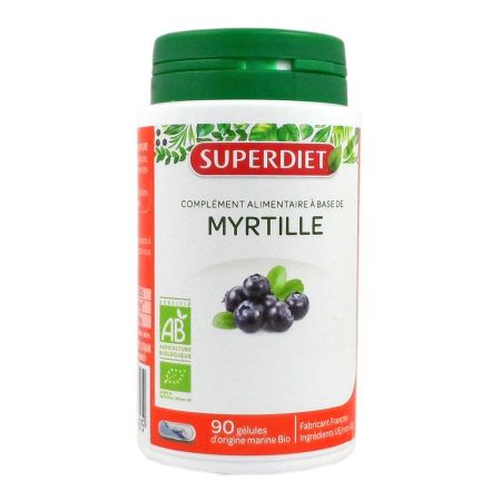 Myrtille bio Super Diet 90 gélules