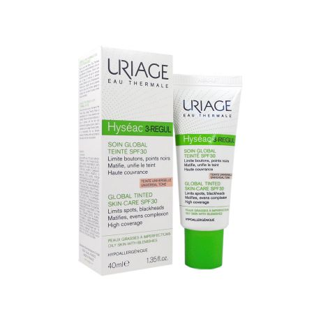 Hyséac 3-regul soin global teinté SPF30 Uriage 40ml