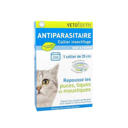 Vetoform Collier Antiparasitaire Chat et Chaton