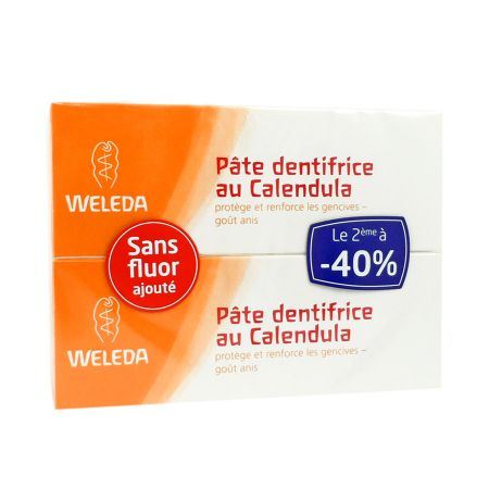 Dentifrice au Calendula Weleda Pâte 75 ml LOT DE 2