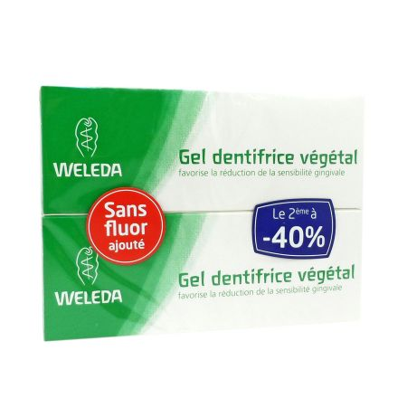 Weleda Gel Dentifrice Végétal 75 ml LOT DE 2